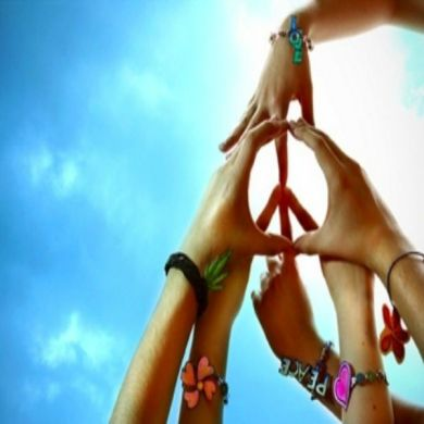 Peace Hands Sign