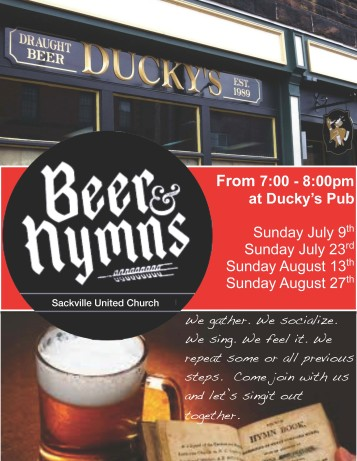 Beer and Hymns poster