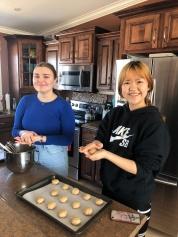 Cooking at Lloyd and Jenns