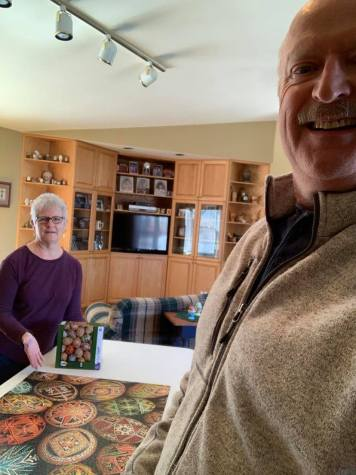 Frank And Dianne Celebrate Their Puzzle Triumph