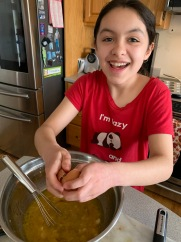 Jasmine Making Some Easter Muffins