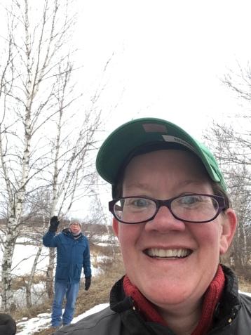Jennie and Gary on a Socially Distanced Walk