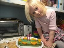 Megan Turquoise Vanilla Cake